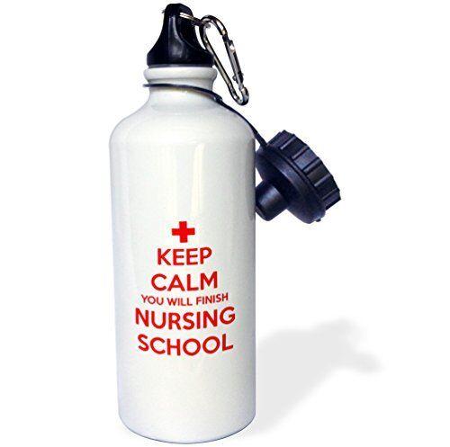 3dRose wb/_216316/_1 Keep Calm You Will Finish Nursing School Sports Water Bottle,