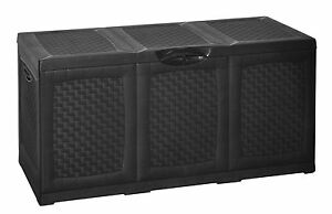 Plastic-Garden-Storage-Box-With-Lid-amp-Wheels-Waterproof-amp-Lockable