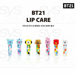 BTS BT21 Official Authentic Goods Figure Lip balm 4.3g + Tracking Number