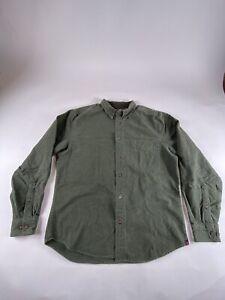 Woolrich-Sz-M-Green-Flannel-L-S-100-Cotton-Button-Shirt