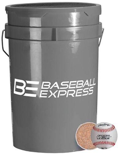 Baseball Express bucket w/ 30 Rawlings BBX Practice Baseballs