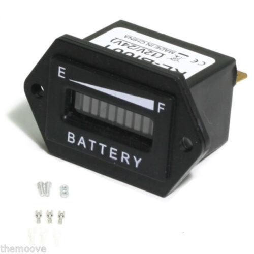 LED Digital Monitor Battery Status Meter Gauge 12V  24V 48V US