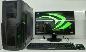 SUPER-VELOCE-Gaming-Computer-PC-Intel-QuadCore-2-50ghz-500gb-4gb-RAM-2gb-710-HDMI