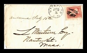 DR JIM STAMPS US WATERLOO NEW YORK SMALL SIZE COVER INVERTED CROSS CANCEL