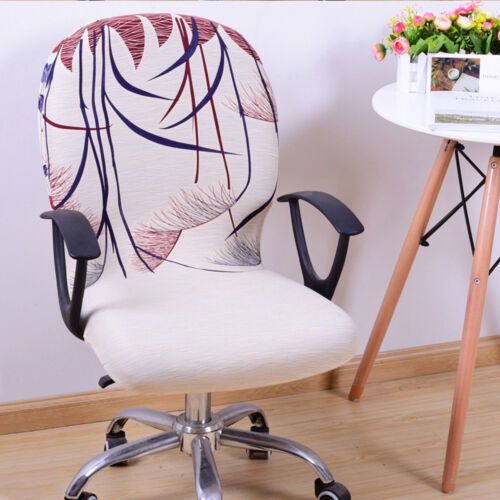 Office Computer Chair Cover Spandex Stretch Swivel Rotate Seat Antimacassar US