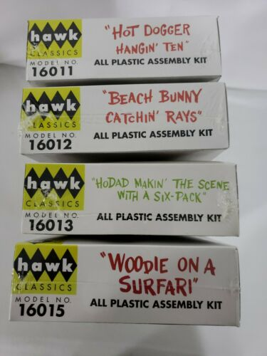Hawk Silly Surfers Lot Of 4 Woodie Hodad Beach Bunny Hot Dogger NEW 2006