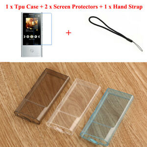Silicone Gel Skin Case for Sony Walkman NW-A35 NW-A40 Rubber Cover Films Strap