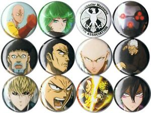 Details about One Punch Man 12 pins buttons anime Saitama Hero Tatsumaki  Demon Cyborg Bang