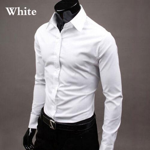 Men/'s  Dress Shirts Casual Double Collar Slim Fit Button Down Long Sleeve Shirt