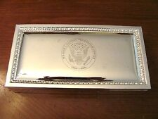 REED & BARTON 'WILLIAM J.CLINTON' PRESIDENTIAL CENTER SILVERPLATE COVERED BOX