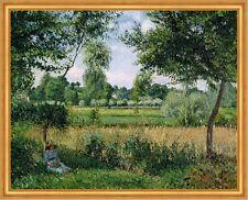 Morning Sunlight Effect, Eragny Camille Pissarro Landschaft Sonne B A2 00922