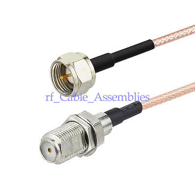 TV External Aerial Antenna Feeder Adapter Cable F-Type male / jack pigtail  RG179 | eBay