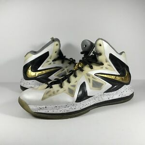 Image is loading Nike-Lebron-10-X-Elite-Gold 9b40b7e4ec40