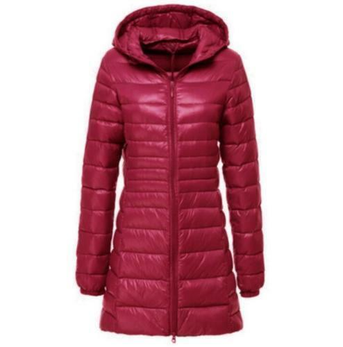 2019 Women's Down Cotton Long Coat Hooded Down Jacket Ladies Parka Style S-6xL
