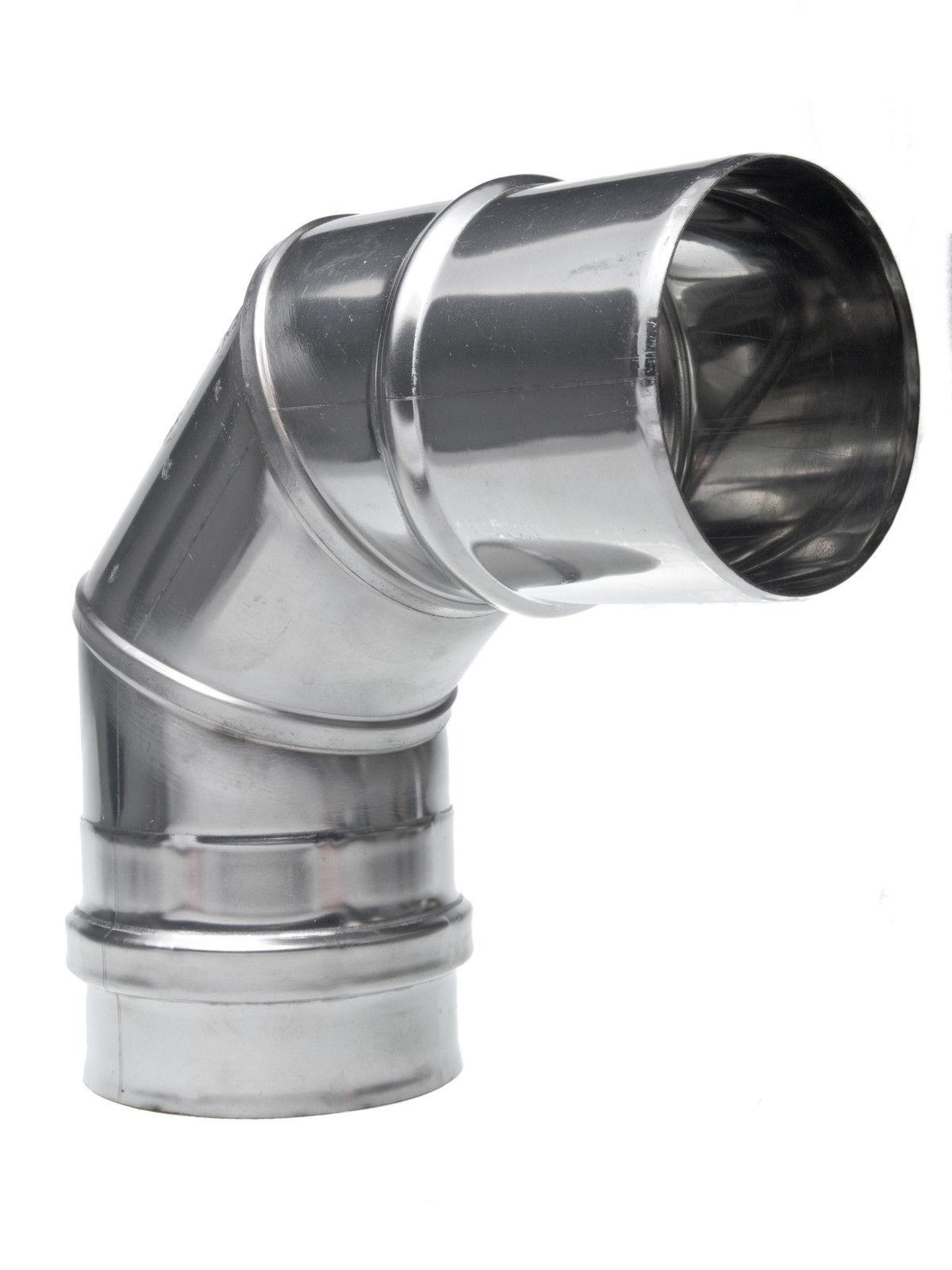 Coude cheminée Inox 87 dégrés dégrés dégrés ø 200 mm 8357d0