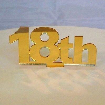 18th Compleanno Cake Topper-specchiato Oro-
