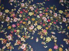 Estiramiento Georgette Estampado Floral-Azul Marino/Rosa/oro/Verde-Vestido Tela Libre P&P