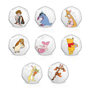 Disney-Winnie-the-Pooh-Gifts-50p-Shaped-Limited-Edition-Collectable-Coin-Bundle