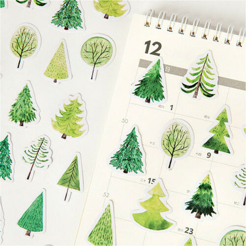 Forest Tree Spruce Bullet Journal Decorative Washi Scrapbooking Stickers 45pcs