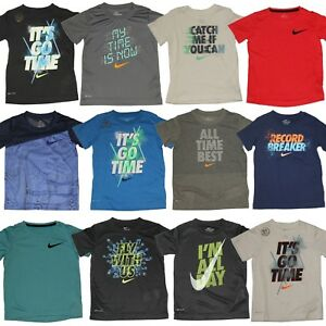 03412b59b4e7 Nike Boys T-Shirt - Cotton   Dri-Fit Shirt - Size 4 5 6 7 - Nike Tee ...