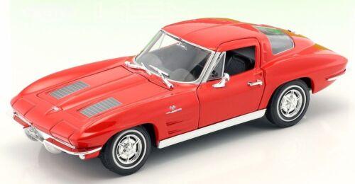 WEL24073W Voiture sportive CHEVROLET Corvette de 1963 couleur rouge