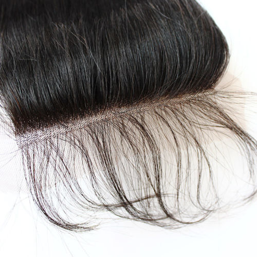 """100/% Brazilian Human Hair Lace frontal silk straight frontal lace Closure 4*4/"""""""