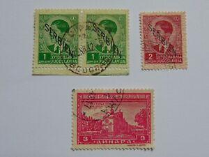 4 Marken (.) Serbien Landespost Deutsche Besetzung 1941 1943, Mi 3 5 77