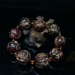 Collection Chinese Exquisite Ox horn Hand-made Ox horn beads Bracelet