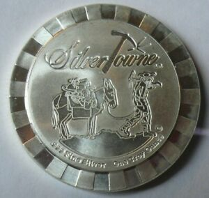 Rare-Silvertowne-Poker-Chip-1-oz-999-Silver-Stacker-Round-Coin