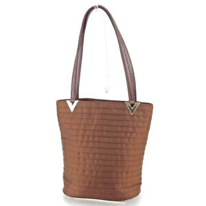 Image is loading Valentino-Garavani-Tote-bag-Brown-Silver-Woman-Authentic- b98c80d118ad5