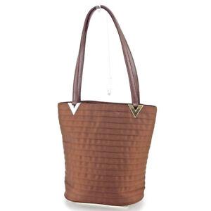 Image is loading Valentino-Garavani-Tote-bag-Brown-Silver-Woman-Authentic- f69808f8b19c0