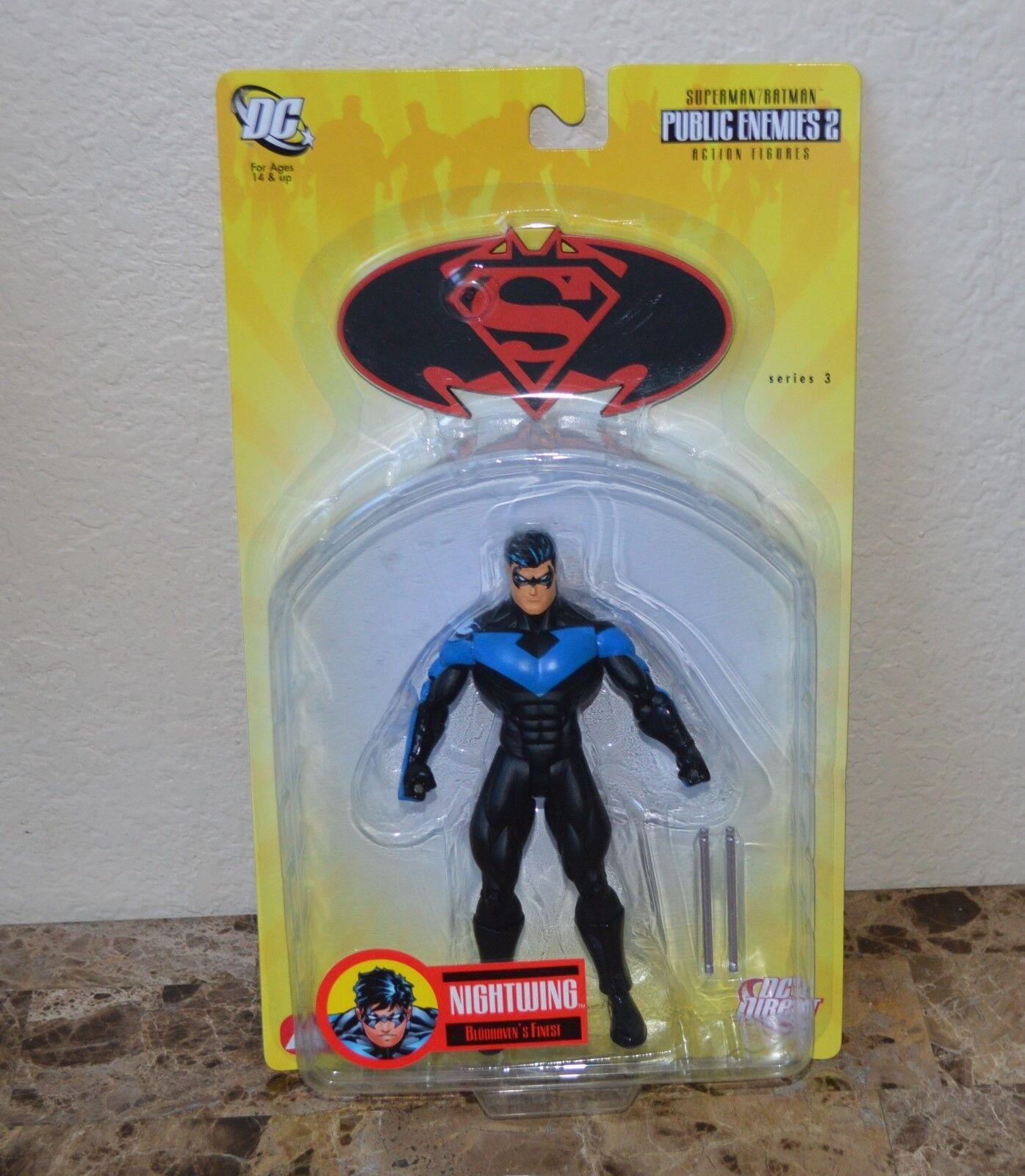 Superman   Batman series 3 NIGHTWING Figure DC Direct Toys 2007 Public Ememies 2