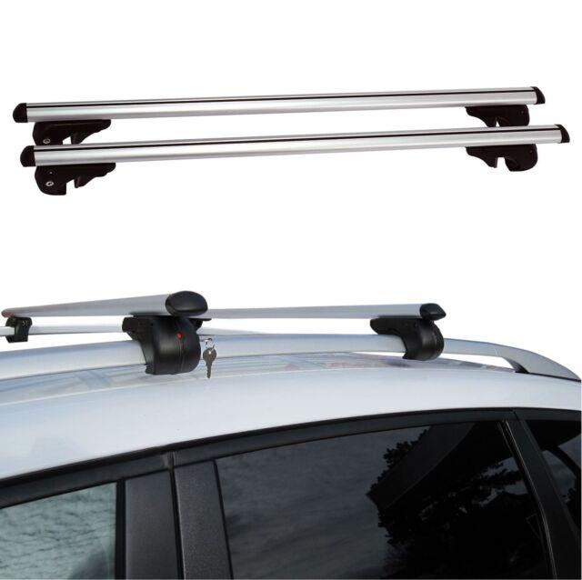 120cm Adjustable Universal Anti Theft Locking Aluminium Car Roof Bar Rails