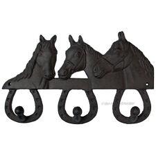 Nostalgie Wandgarderobe Pferde Stall Wandhakenleiste Haken Garderobe Gusseisen