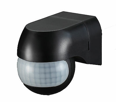 Outdoor 180° Security Lighting PIR Motion Movement Sensor Detector Switch Black