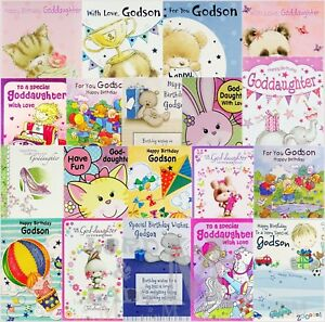 Image Is Loading Godson Goddaughter Birthday Cards Various Designs Available