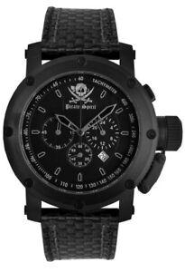 Pirate-Spirit-Orologio-da-uomo-71-01-47-0-Analogico-Cronografo-Pelle-Nero