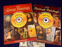 2 Dover Electronic Clip Art 240 Portraits Paintings Mac Windows Book & Cd-rom