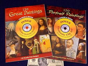 2 Dover Electronic Clip Art 240 Portraits Paintings Mac Windows ...