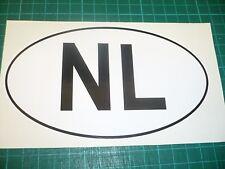 NETHERLANDS Oval Car Vehicle Sticker