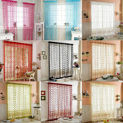 String Curtain Door Tassel Screen Room Divider Window Blind Drape Heart Panel