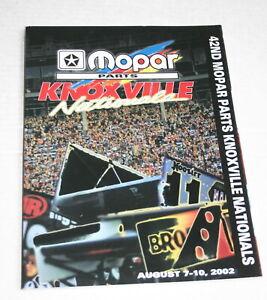 2002-42ND-ANNUAL-KNOXVILLE-NATIONALS-OFFICIAL-PROGRAM-KARL-amp-MARK-KINSER-MOPAR