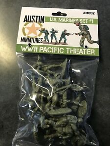 Austin-Miniatures-Conte-TSSD-1-32-scale-plastic-figure-WW2-US-marines-OD-green