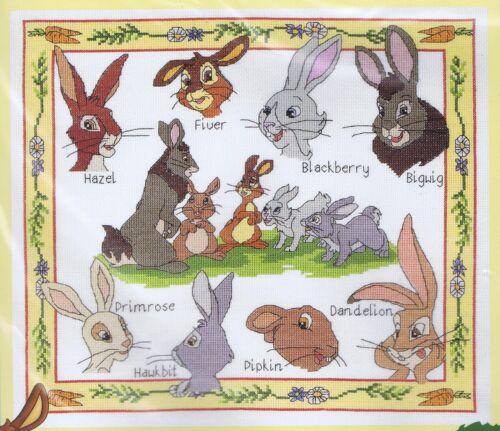 "DMC Watership Down Characters Sampler Cross Stitch Kit 14/"" x 12/"""