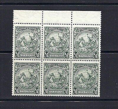 Europa WunderschöNen Barbados 1925 Scott 166a Pf 13.5 X 12.5 Schwarz 6 Vf Mnh Zu Den Ersten äHnlichen Produkten ZäHlen