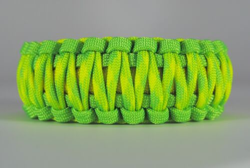 550 Paracord Survival Bracelet King Cobra Lime//Yellow//Dayglow Camping Tactical