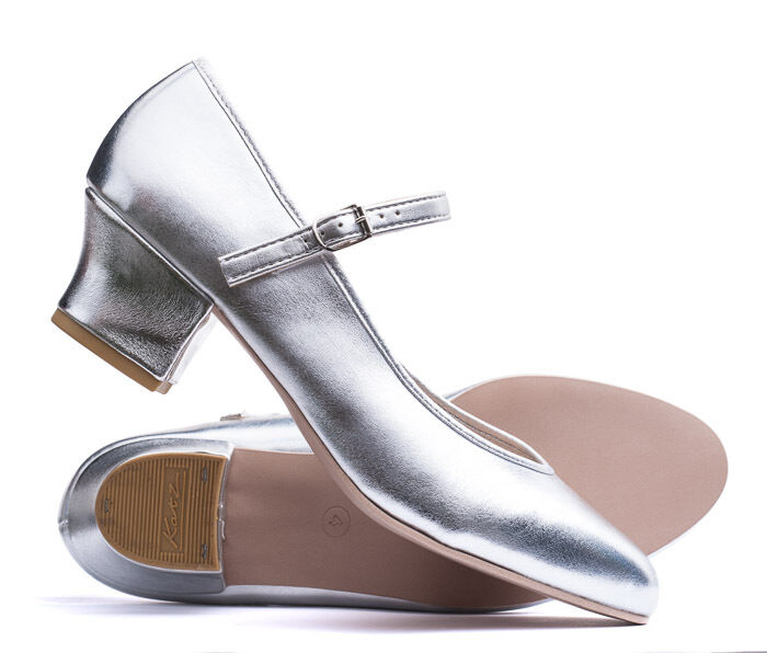 Ladies Silver Character Stage Showtime Dance Shoes All Sizes 1.5