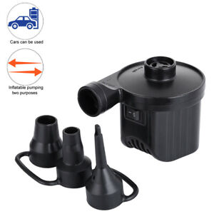 12V Car Electric Air Pump for Paddling Pool Fast Inflator Deflator Bed Mattress