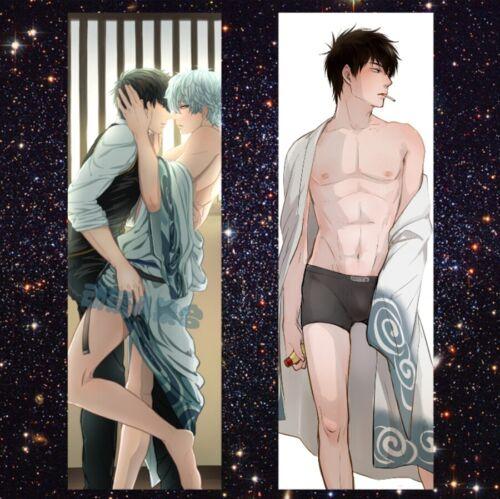Anime Dakimakura Gintama Sakata Gintoki Hugging Body Pillow Case Cover #11