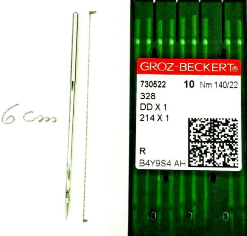 GROZ-BECKERT 214X1 DDX1 NM:140//22 SINGER 132K INDUSTRIAL SEWING MACHINE NEEDLES